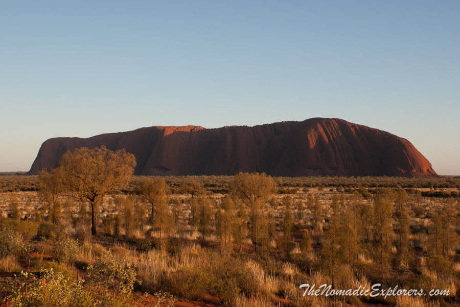 Australia, Northern Territory, Alice Springs and Surrounds, Uluru and Surrounds, Из Дарвина в Аделаиду: День 5-6. От Alice Springs до Uluru. Закат и рассвет над Uluru (Ayers Rock), ,