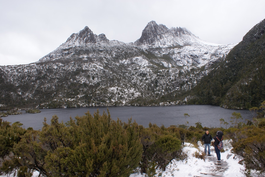 Australia, Tasmania, North West, Tasmania, Day 2. Cradle Mountain - Lake St Clair National Park. 'Christmas' in November, Snow, Dove Lake Circuit, ,