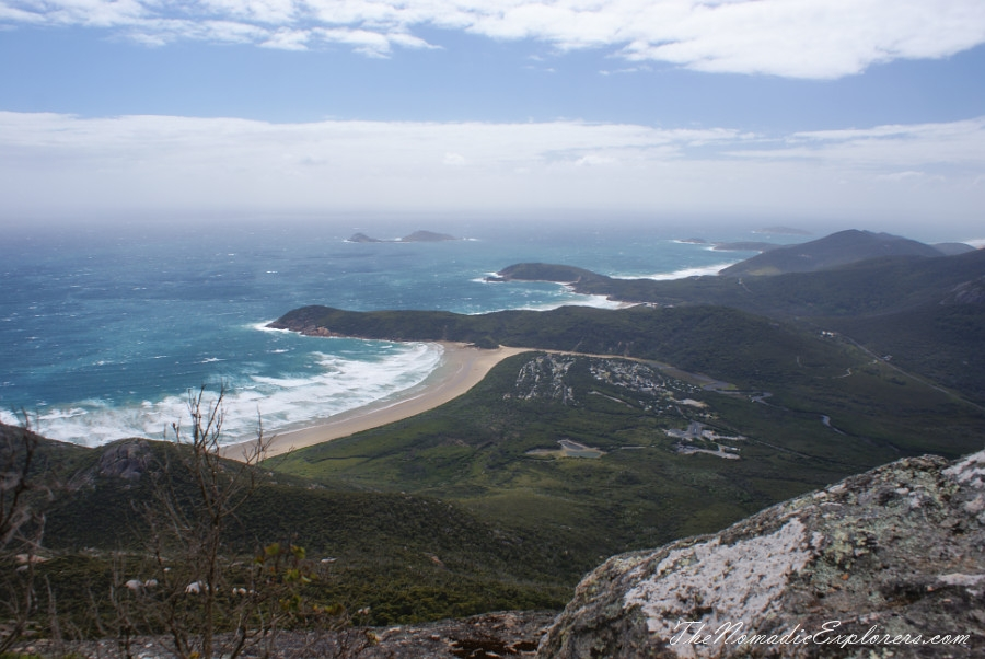 Australia, Victoria, Gippsland, A day in Wilsons Promontory National Park: Mount Oberon, Squeaky Beach, Tidal River / Norman Beach, ,