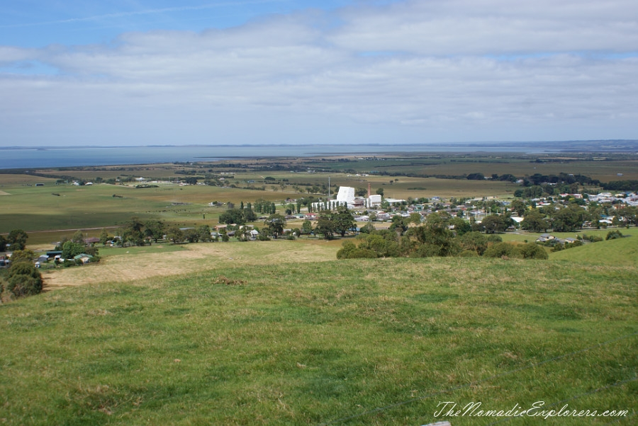 Australia, Victoria, Gippsland, From Foster to Port Albert: Bird Hide, WindFarm, Agness Falls, Old Port Trail, ,