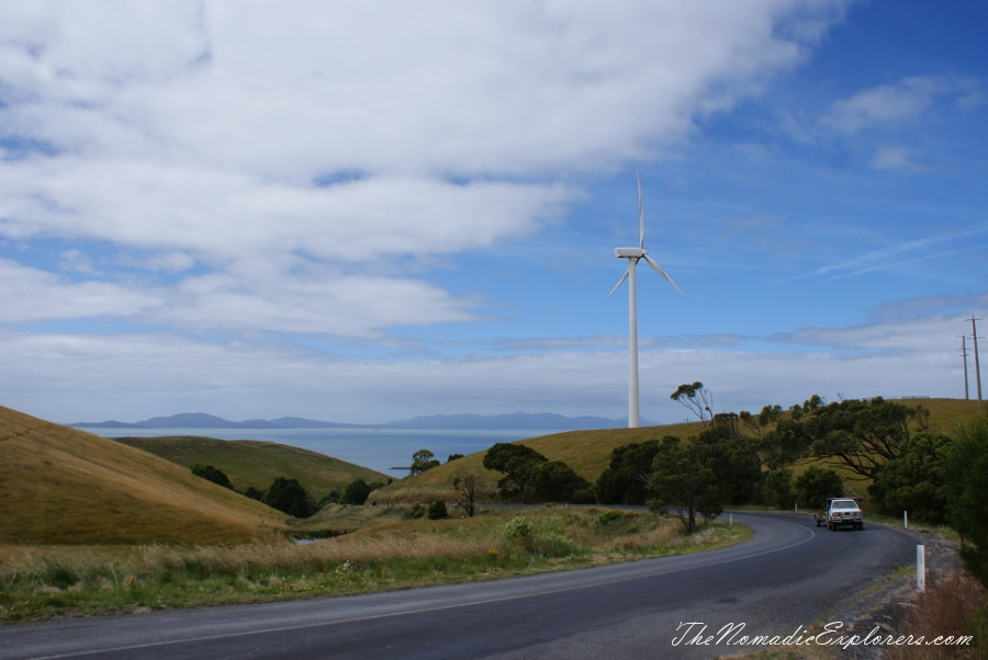 Australia, Victoria, Gippsland, From Foster to Port Albert: Bird Hide, WindFarm, Agness Falls, Old Port Trail, ,