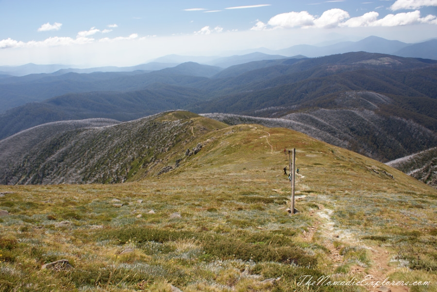 Australia, Victoria, High Country, Mount Bogong Conquestathon: Mount Bogong Circuit via Staircase Spur and Eskdale Spur , ,