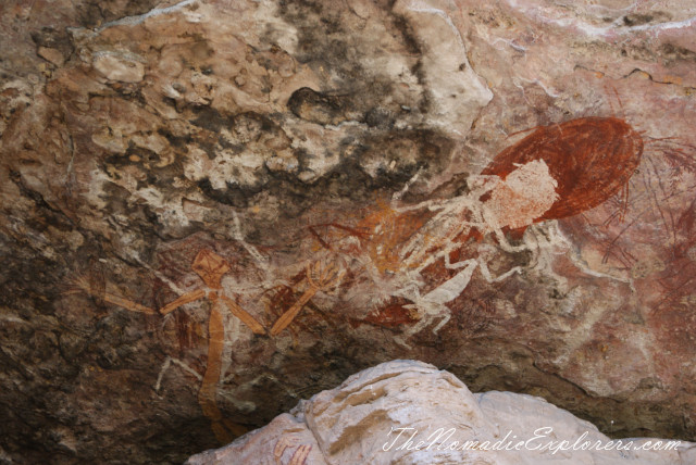 Australia, Northern Territory, Kakadu and Surrounds, Kakadu National Park. Aboriginal Rock Paintings at Nanguluwur and Nourlangie/Anbangbang Gallery, ,