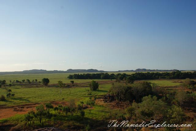 Australia, Northern Territory, Kakadu and Surrounds, Kakadu National Park. Sunset at Nadab Lookout, Ubirr, ,