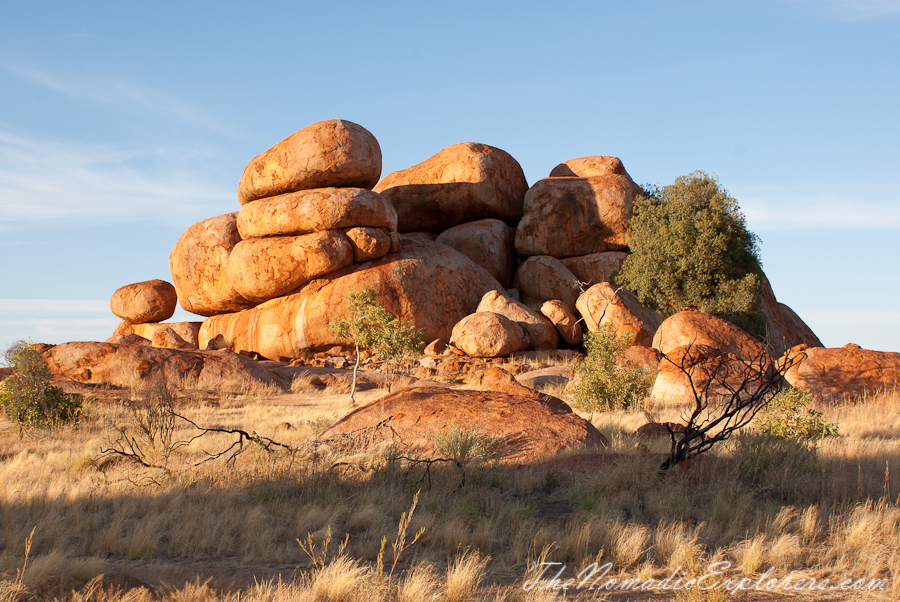 Australia, Northern Territory, Tennant Creek and Barkly Region, Из Дарвина в Аделаиду: День 3-4. Закат и рассвет в Karlu Karlu / Devils Marbles Conservation Reserve, Australia, Northern Territory, Tennant Creek and Barkly Region, Darwin to Adelaide 2015. Day 3-4. Karlu Karlu / Devils Marbles