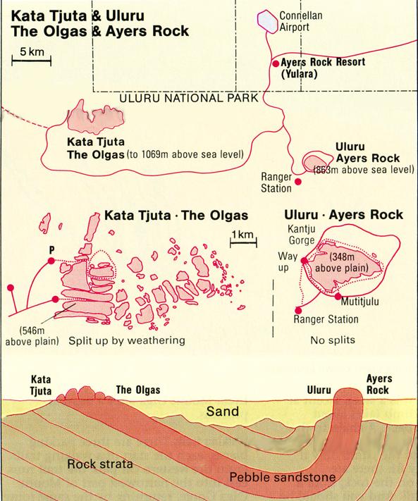 "Australia, Northern Territory, Uluru and Surrounds, День 6. ""Красный Центр"". Uluru /Ayers Rock и Kata Tjuta / Mount Olga - немного истории, геологии и географии, ,"