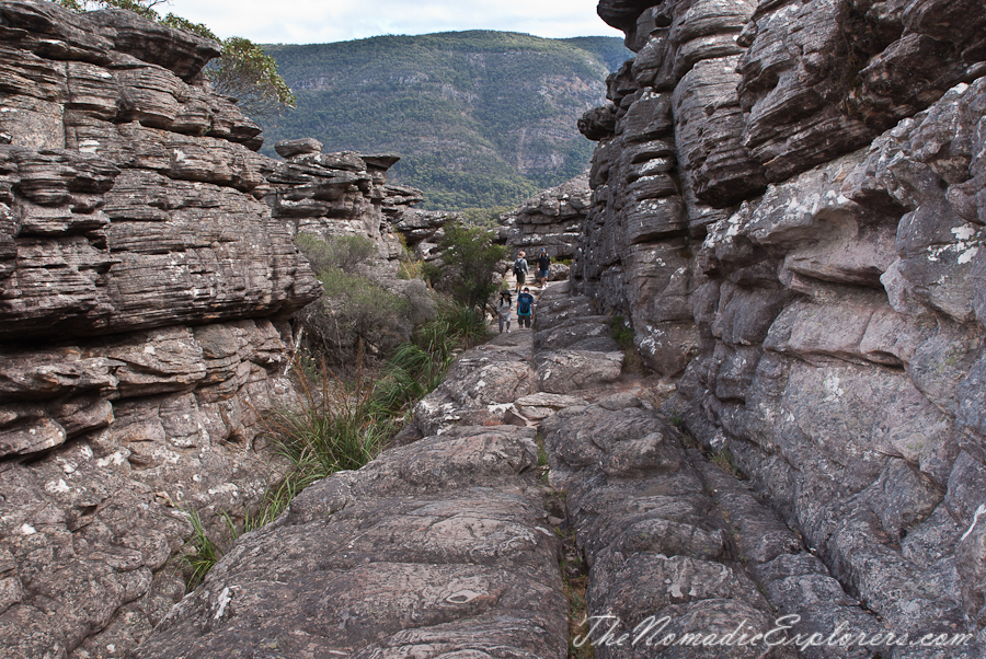Australia, Victoria, Grampians, The Grampians: The Pinnacle Lookout via Wonderland Loop, ,