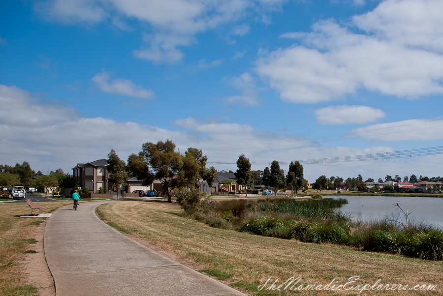 Australia, Victoria, Melbourne, Cycling from Roxburg Park to City via Broadmeadows Valley, Moonee Ponds and Capital City Trails, ,