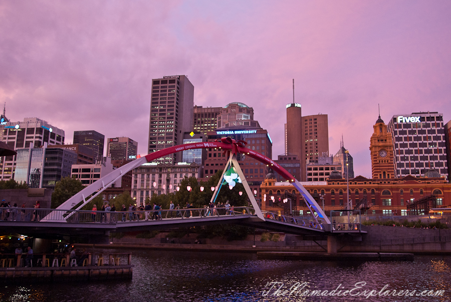 Australia, Victoria, Melbourne, Christmas Decorations In Melbourne - Evening Walk, ,