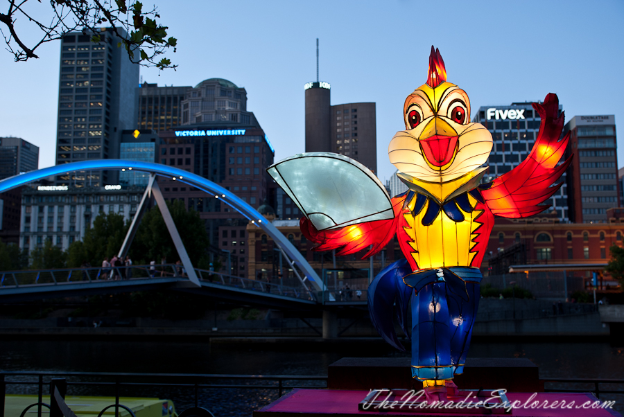 Australia, Victoria, Melbourne, White Night Melbourne & Chinese New Year Decorations 2016, ,