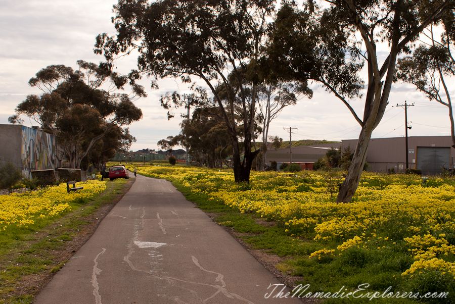 Australia, Victoria, Melbourne, Dark Side of Melbourne: Cycling from city to Werribee via Federation Trail, ,