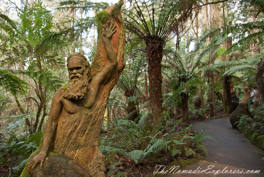 Australia, Victoria, Yarra Valley & Dandenong Ranges, A nice hour out in the Dandenongs: William Ricketts Sanctuary, ,