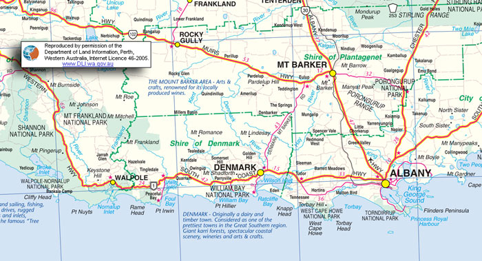 Western Australia Trip Day William Bay National Park Near - Map of western australia with towns